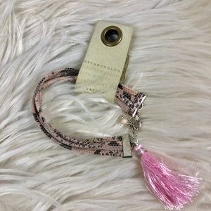 Anthropologie Layered suede leather bracelet